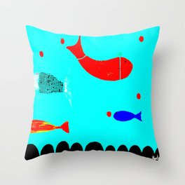 In the clouds part two, digitized Throw Pillow