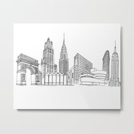 New York City by the Downtown Doodler Metal Print