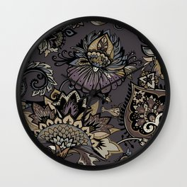 Lavelly paisley 2. Wall Clock