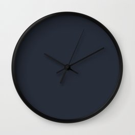 Dark Blue Trending Solid Color  - Hue Jolie 2021 Color of the Year Accent Shade Classic Navy Wall Clock