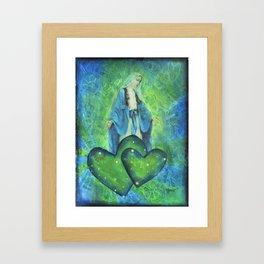 Mother Mary Mixed Media Framed Art Print
