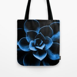 Dark Blue Succulent Plant #decor #society6 #homedecor Tote Bag