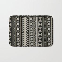 Boho Mud cloth (Black and White) Bath Mat