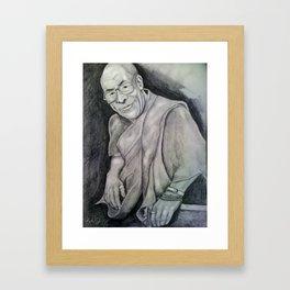 Dalai Lama Portrait - Peace and Kindness Framed Art Print