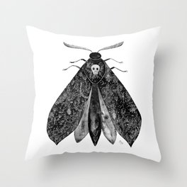 The Moth and All His Friends Throw Pillow