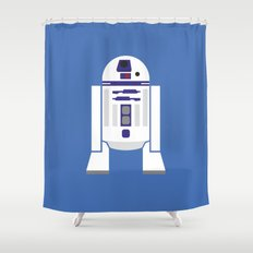 Star Wars Minimalism - R2D2 Shower Curtain