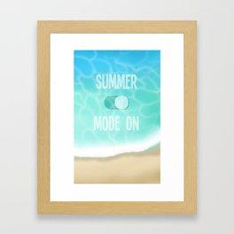 Summer Mode Framed Art Print