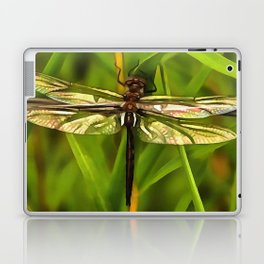 Dragonfly In Brown And Yellow Laptop & iPad Skin