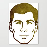 archer Canvas Prints featuring Archer by Spooky Dooky