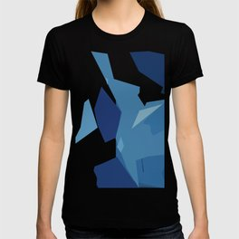 Blue Abstract Map T-shirt