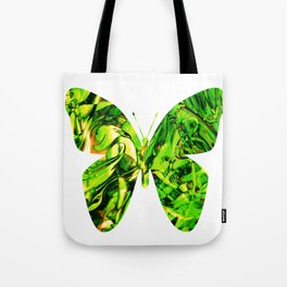 Fluid Butterfly (Green Version) Tote Bag