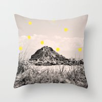 monkey island Throw Pillows featuring Island by the penny drops