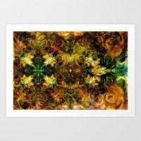 fibonacci Art Prints featuring Fibonacci 1 by Aleks7