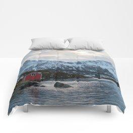 Lofoten winter Comforters
