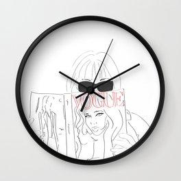Anna Fashion Editor Wall Clock