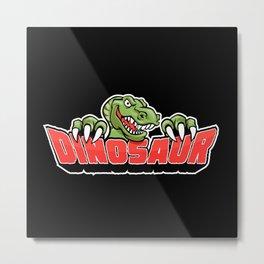 dinosaur mascot. Metal Print
