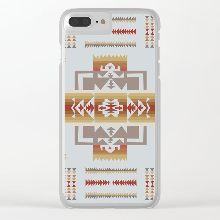 American Native Pattern No. 11 Clear iPhone Case