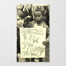 The Power Boys: Trump Sucks B & W Canvas Print