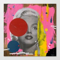 marilyn Canvas Prints featuring Marilyn by FAMOUS WHEN DEAD
