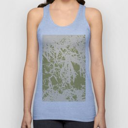 Bamboo branches and leaves in beige Unisex Tank Top
