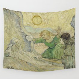 The Raising of Lazarus (after Rembrandt) Wall Tapestry