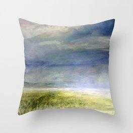 Sea Shore Watercolor Ocean Landscape Nature Art Throw Pillow