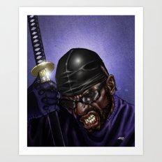 WU-Swordsman Art Print