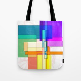 Squares combined no. 6 Tote Bag