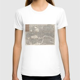 Vintage Map of London England (1899) 2 T-shirt