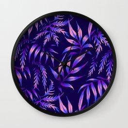 Brooklyn Forest - Purple Wall Clock