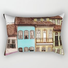 Simple and colorful houses - Antique Rectangular Pillow
