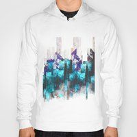 cities Hoodies featuring Cold cities by HappyMelvin