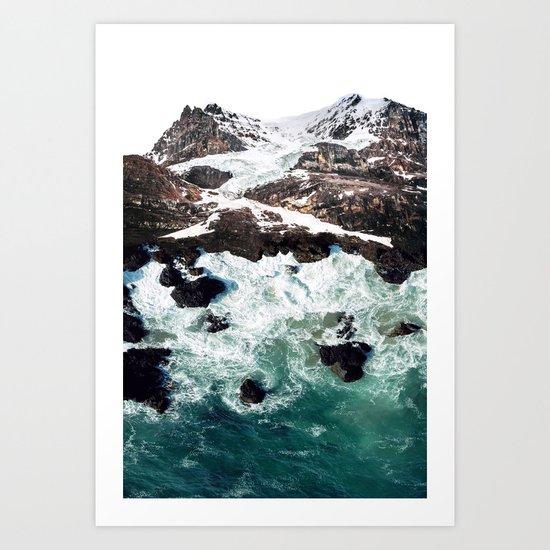 Sea and Mountains Art Print