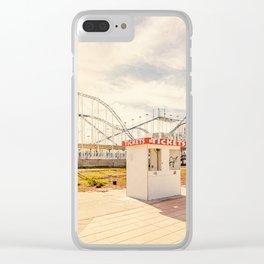 Abandoned Roller Coaster Daytona Florida Clear iPhone Case