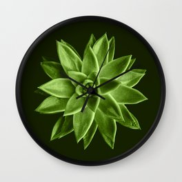 Greenery succulent Echeveria agavoides flower Wall Clock