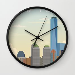 New York City Landscape Wall Clock