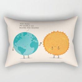 You make my world go round and round! Rectangular Pillow