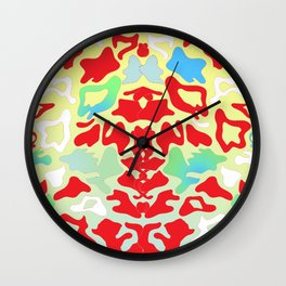 Abstract Organic 1 by Anthea Missy Wall Clock