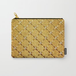 Elegant Gold & Diamonds Carry-All Pouch