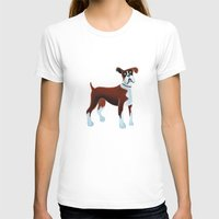 boxer T-shirts featuring Boxer by Cathy Brear