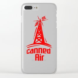 Show Logo Red Clear iPhone Case