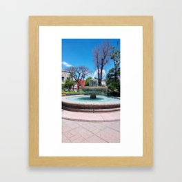 Fuente calle independencia Framed Art Print
