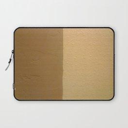 Imperfect Smooth VS Orange Peel Textures Minimalism Earth Tone Art - Corbin Henry Laptop Sleeve