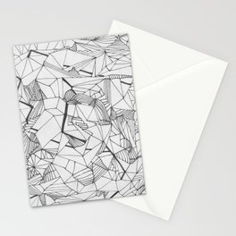 Abstract Template for Adult Coloringbook Stationery Cards