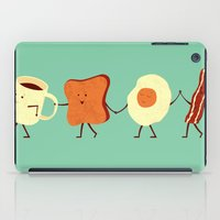 super hero iPad Cases featuring Let's All Go And Have Breakfast by Teo Zirinis