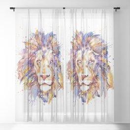 Lion Head Sheer Curtain