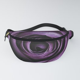 Purple Rose Decorative Flower Fanny Pack