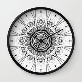 Sunday Mandala Wall Clock
