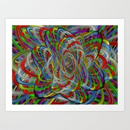 Astray Colors Art Print