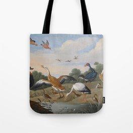 Jan van Kessel , Reiher und Enten, birds Tote Bag